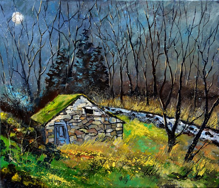 Ywoigne fisher's house - Pol Ledent's paintings