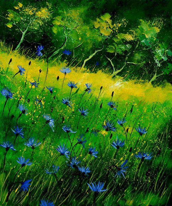Blue cornflowers 674152 - Pol Ledent's paintings