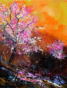 Cherry trees - Pol Ledent's paintings