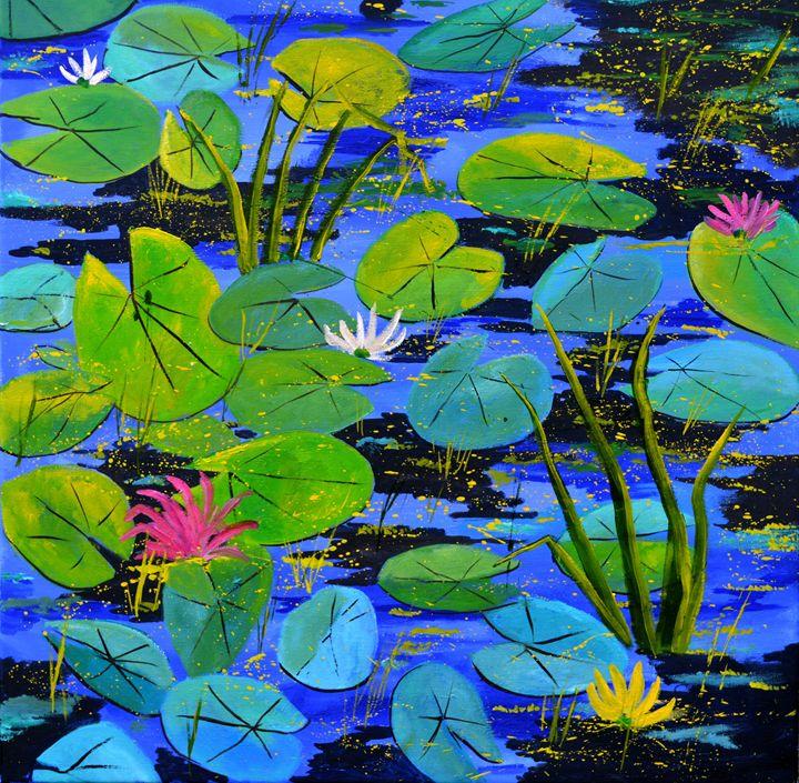 waterlilies - Pol Ledent's paintings