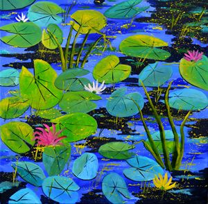 waterlilies - Pol Ledent's paintings