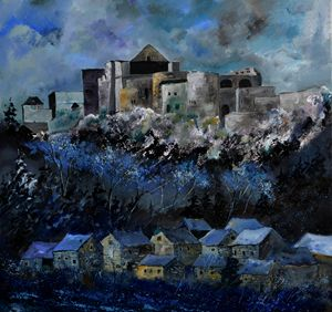 Medieval castle of Bouillon - Pol Ledent's paintings
