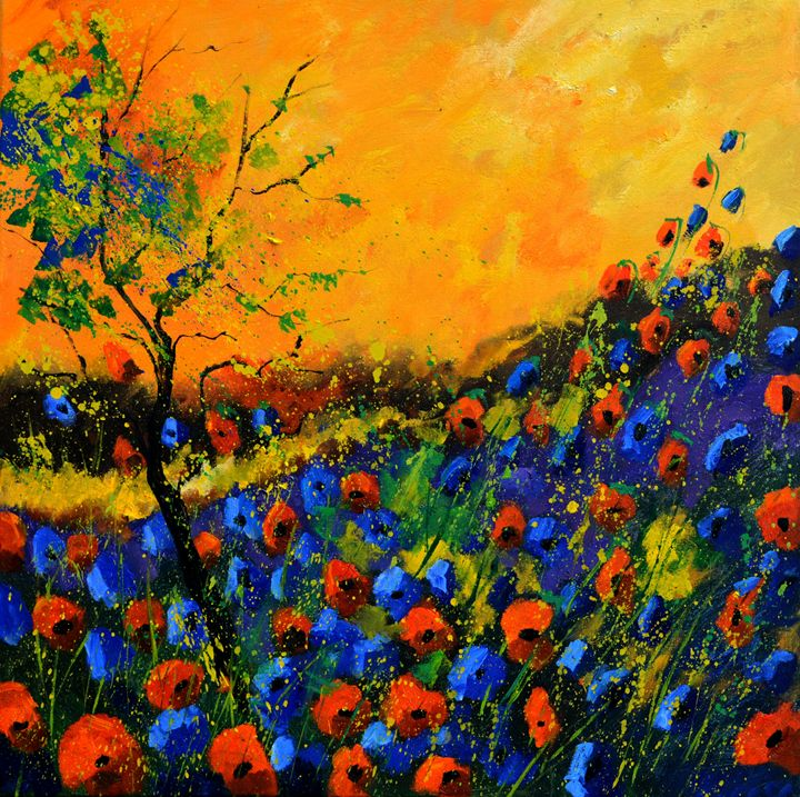 Poppies 88 - Pol Ledent's paintings