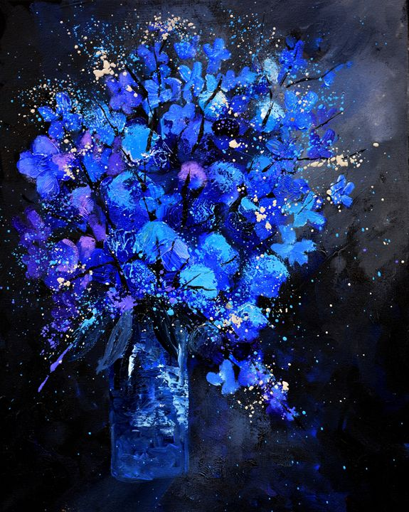 blue still life 4571 - Pol Ledent's paintings
