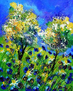 Blue poppies 455150 - Pol Ledent's paintings