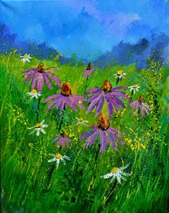 Rudbeckias 4551 - Pol Ledent's paintings