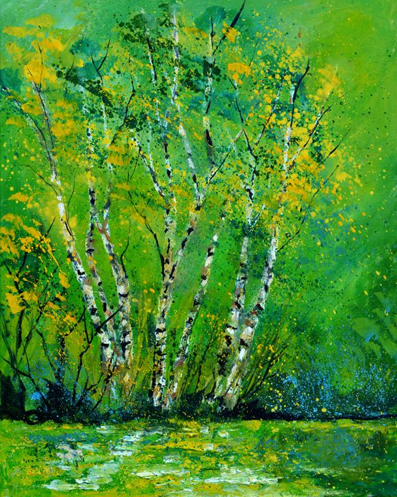 Aspen trees - Pol Ledent's paintings