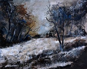 winter in the wood 4551 - Pol Ledent's paintings