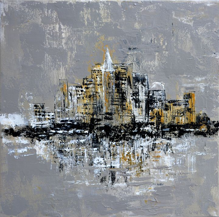 Abstract town - Pol Ledent's paintings