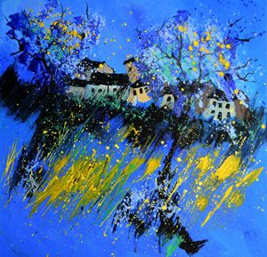 Blue landscape - Pol Ledent's paintings