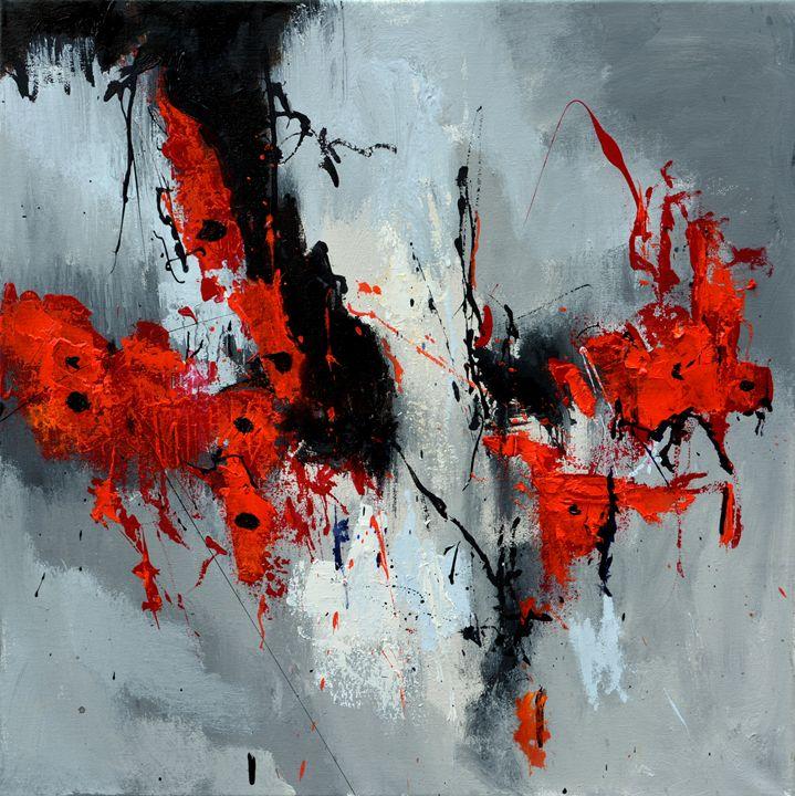 Flying poppies - Pol Ledent's paintings