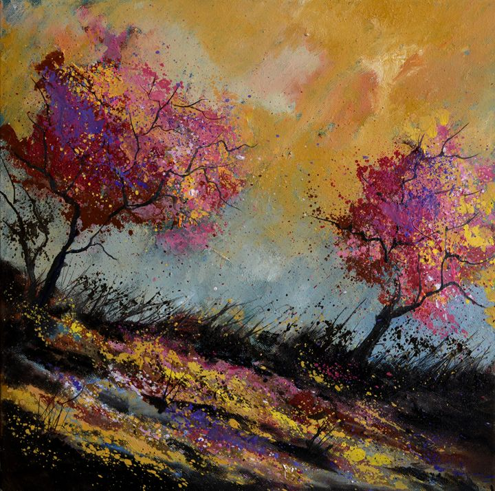Oaks in autumn - Pol Ledent's paintings
