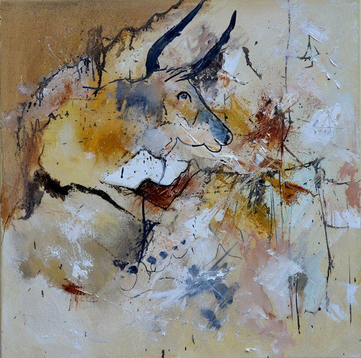 abstract bull - Pol Ledent's paintings