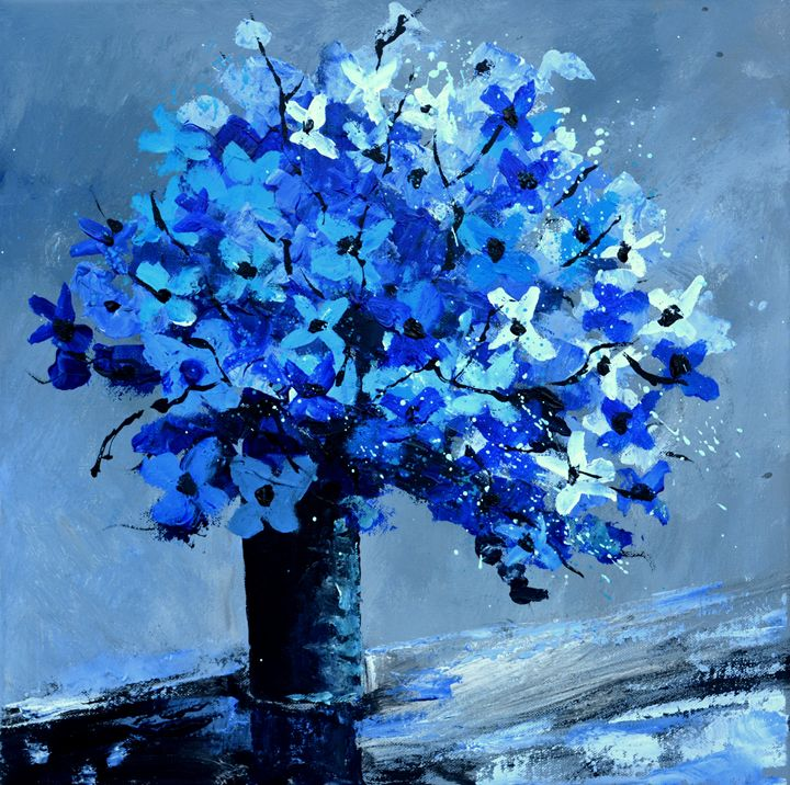 Blue still life - Pol Ledent's paintings