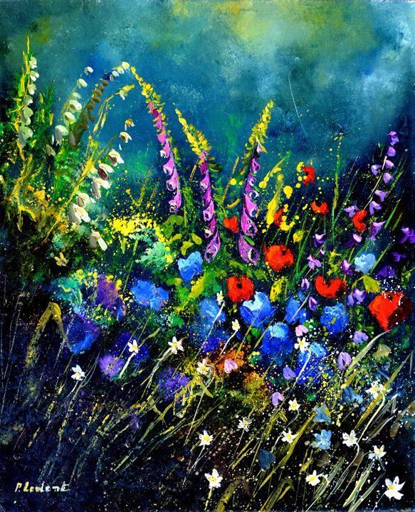 Garden flowers 5622 - Pol Ledent's paintings