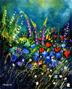 Garden flowers 5622 - Pol Ledent's paintings