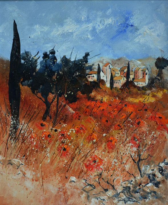 Poppies in Provence - Pol Ledent's paintings