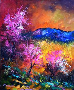 Pink trees - Pol Ledent's paintings