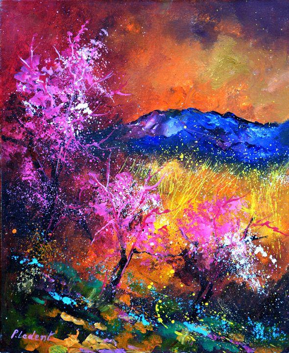 Pink trees - Pol Ledent's paintings
