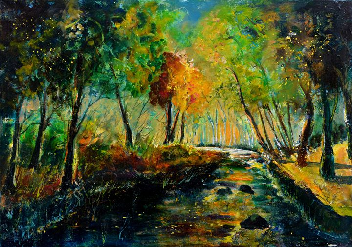River Ywoigne - Pol Ledent's paintings