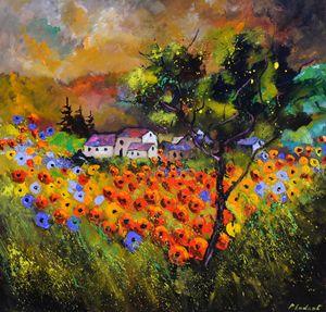 Poppies field - Pol Ledent's paintings