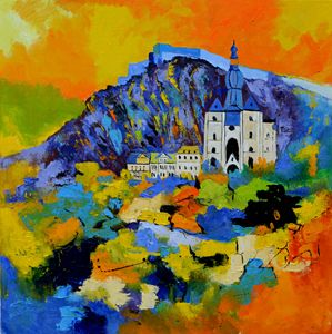 Dinant urban landscape - Pol Ledent's paintings