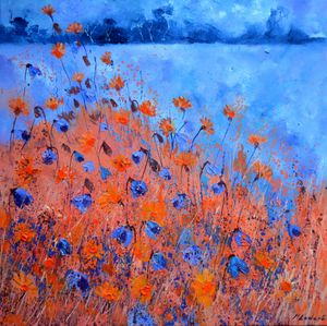 Cornflowers 778111 - Pol Ledent's paintings