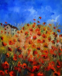 Red poppies 562111 - Pol Ledent's paintings