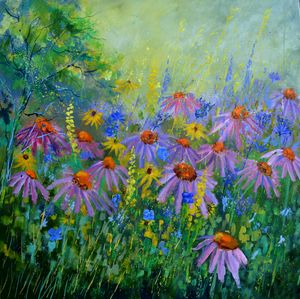 Rudbeckias - Pol Ledent's paintings