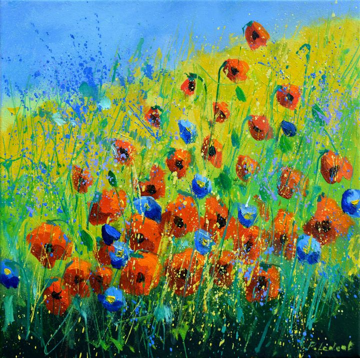 Poppies 4420 - Pol Ledent's paintings