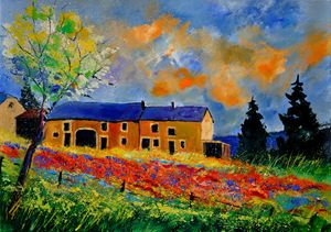 Summer in Houroy - Pol Ledent's paintings