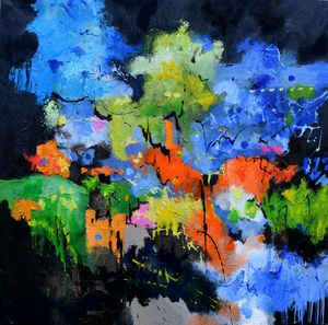 Bacchus feast - Pol Ledent's paintings