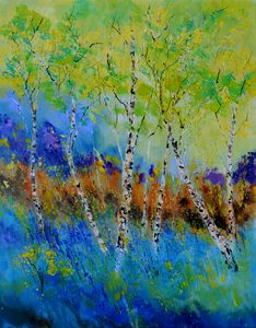 A few aspen trees - Pol Ledent's paintings