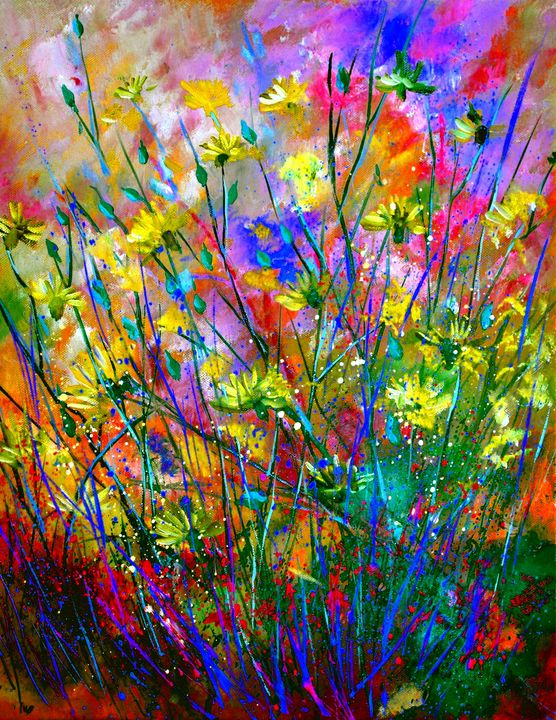 Field flowers - Pol Ledent's paintings