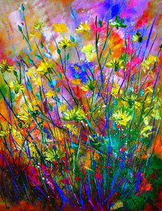 Field flowers - Pol Ledent's paintings