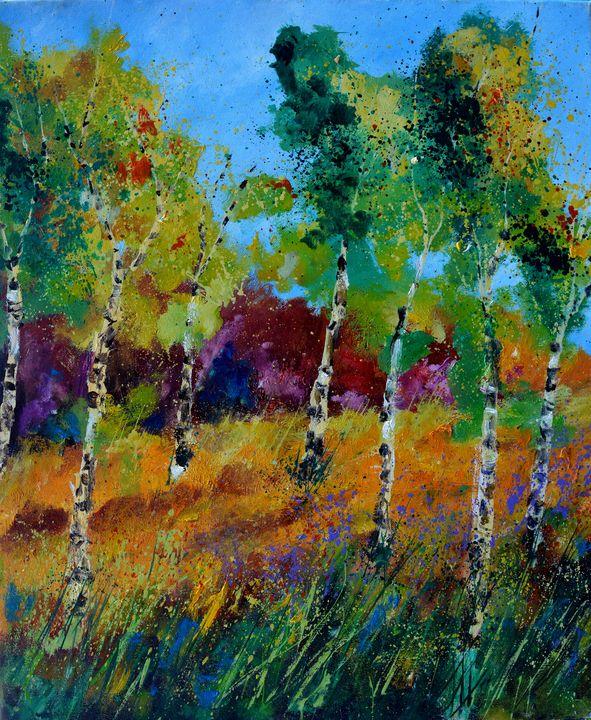 Aspen trees - Pol Ledent's paintings
