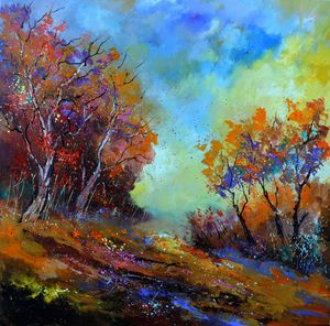Sunny autumnal afternoon - Pol Ledent's paintings