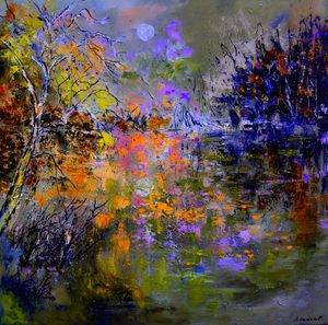 Magic lake - Pol Ledent's paintings