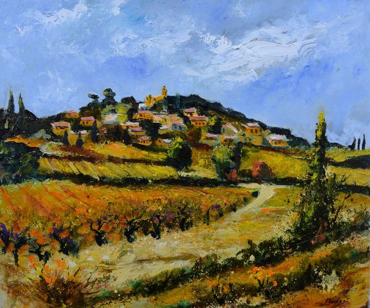 Village in provence - Rasteau - Pol Ledent's paintings