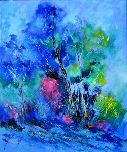 Blue trees - Pol Ledent's paintings