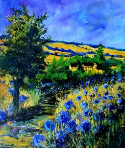 Amid cornflowers - Pol Ledent's paintings