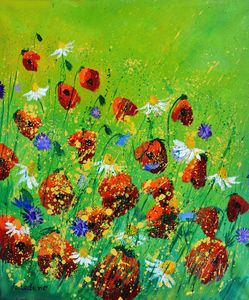 Red poppies - 672021 - Pol Ledent's paintings