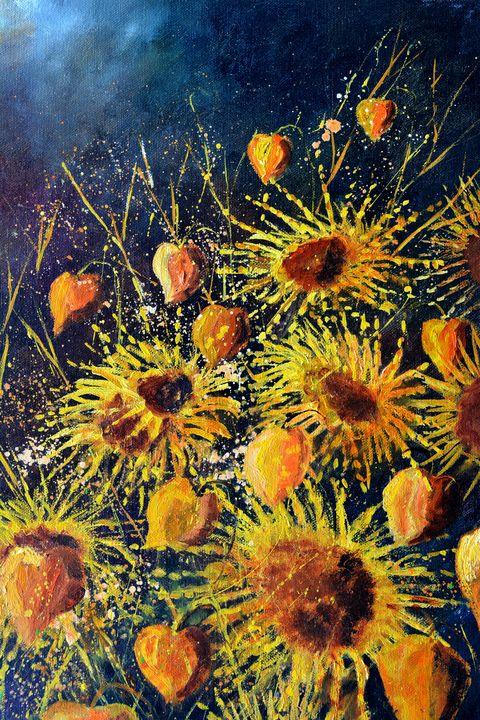 Sunflowers in full bloom - Pol Ledent's paintings
