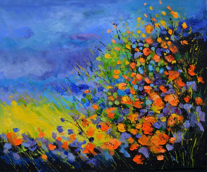 Bright summer flowers - Pol Ledent's paintings