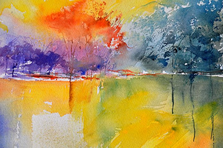watercolor pond  36 - Pol Ledent's paintings