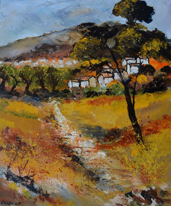 Little village in Provence - Pol Ledent's paintings