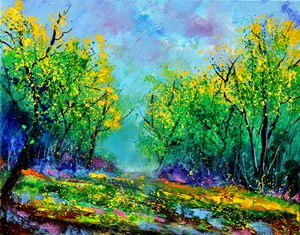 Magic forest 45 - Pol Ledent's paintings
