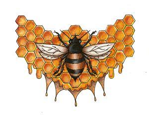 Honey Bee - Milk Thistle Designs