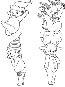 Christmas Kewpie Flash sheet