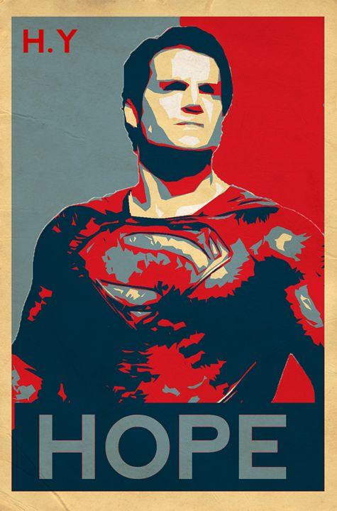 Superman Hope poster - Minimal Movie/Game posters